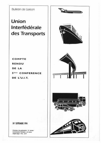 Bulletin de liaison de l'Union Interfédérale des Transports, n° 1, Septembre 1994