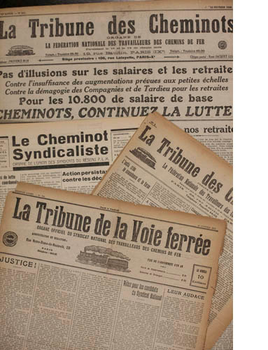 Presse syndicale cheminote en ligne
